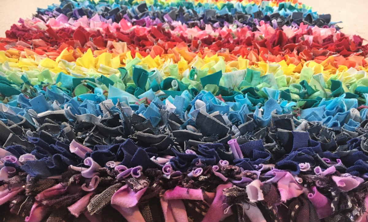 How To Make A Rainbow Rag Rug Reusing Your OldClothes